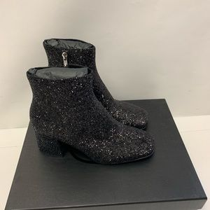 ASH Womens Electra Black Glitter Ankle Booties M10
